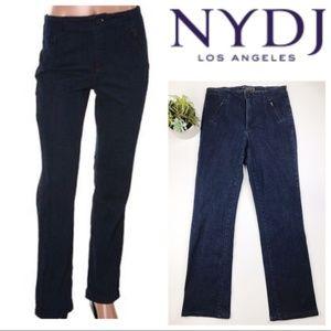 NYDJ Indigo No Waist Slim Fit Zipper Trouser Jeans